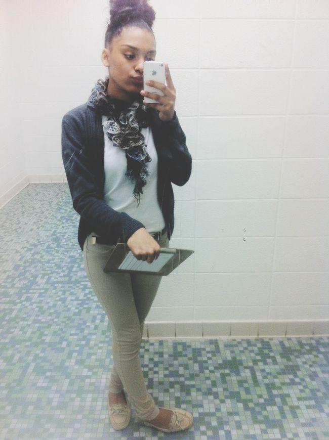 School Dirty Mirror Selfie