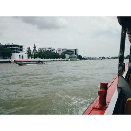 afternoon boat rides are so peaceful. Chaophraya River Bangkok Thailand peaceful