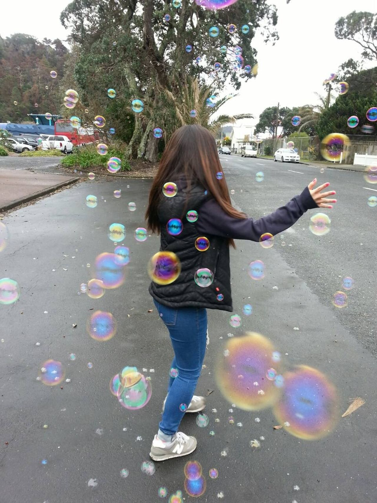 Blow Bubbles Bubbles Easy To Understand-LifeStyle/SoCal Flying Bubbles Fun Fun Time Make Bubbles Portrait Rainbow Colors Watch Out!