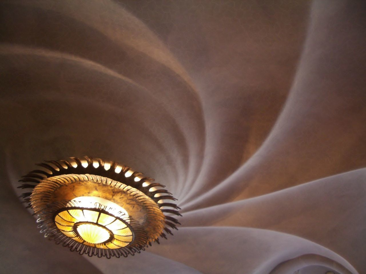 Architectural Feature Art Deco Style Barcelona Ceiling Gaudi Indoors  No People Travel Destinations