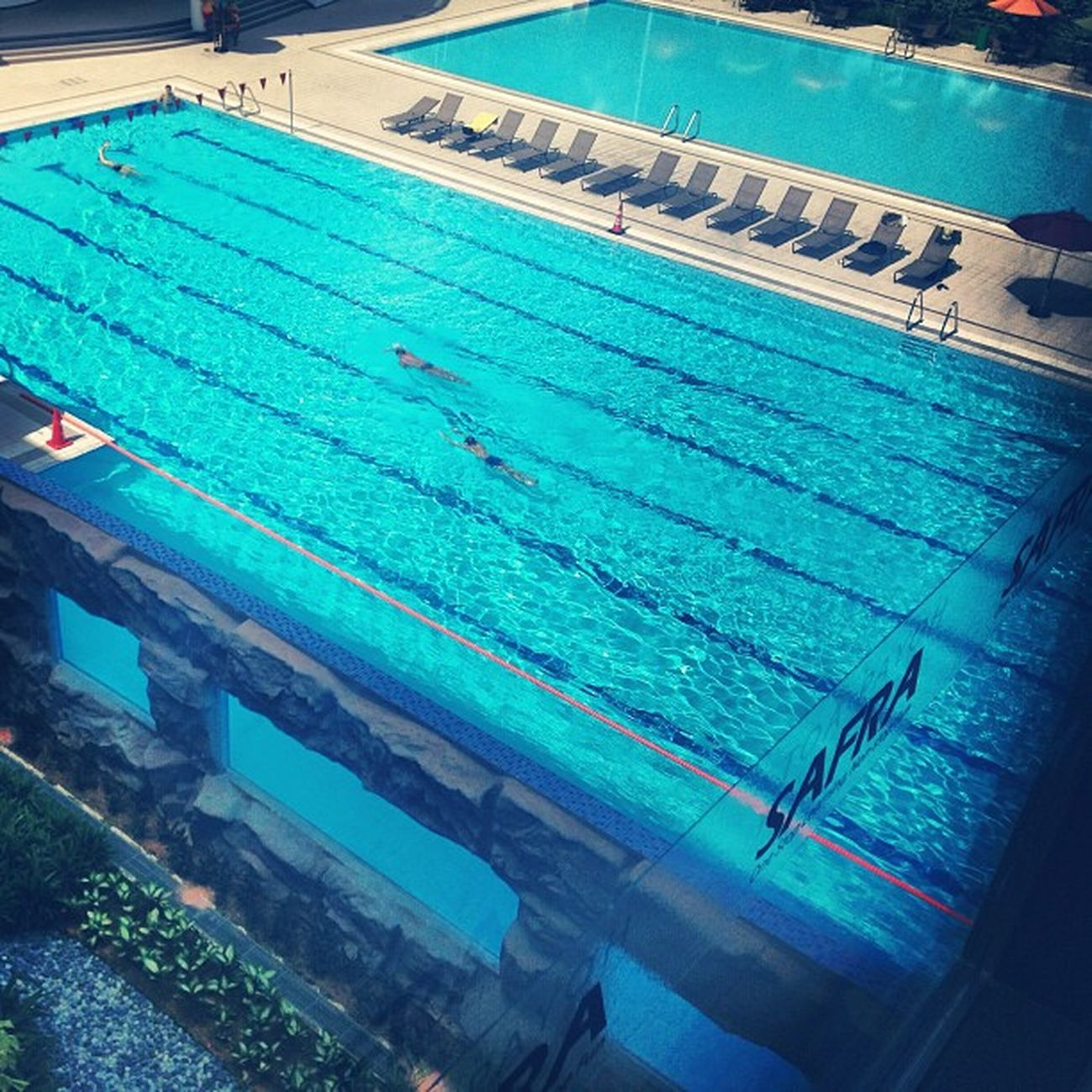 Safra last Friday! Safra Swimming Pool Blue sunny tan