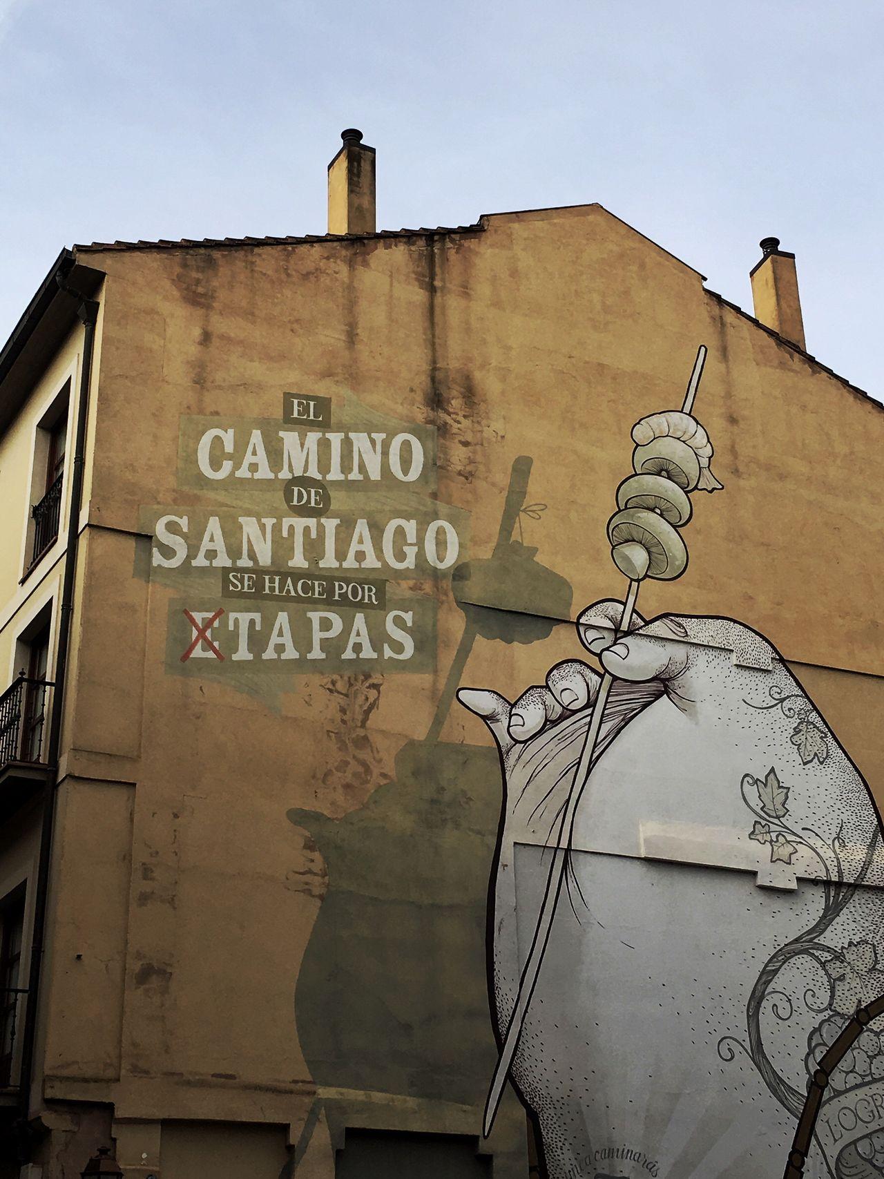 La verdad del camino Text Built Structure Architecture Building Exterior Graffiti Painting Santiagoapie Logroño