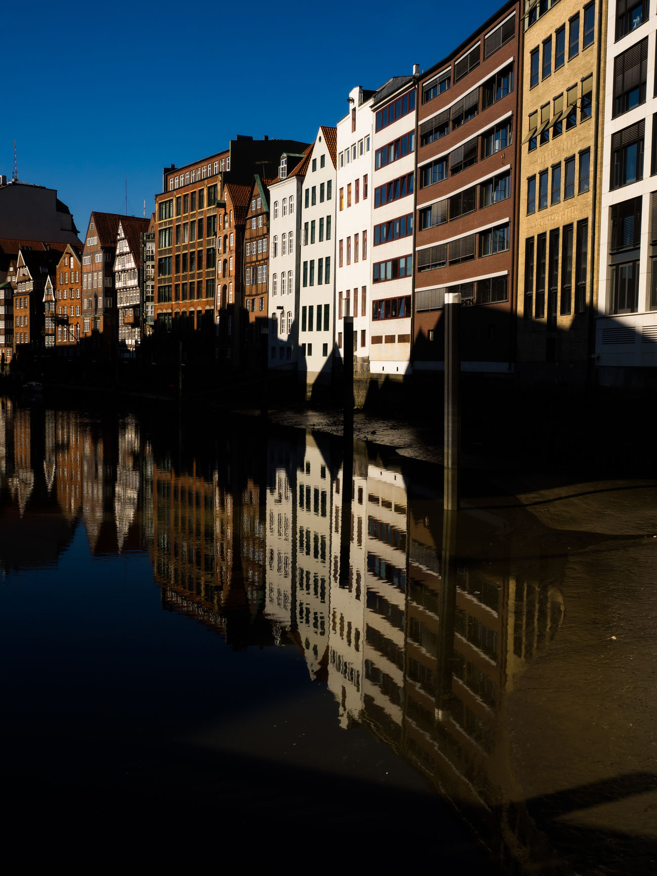 Architecture Building Exterior Built Structure City Clear Sky Day Fleet Hamburg No People Outdoors Reflection Sky Water Waterfront