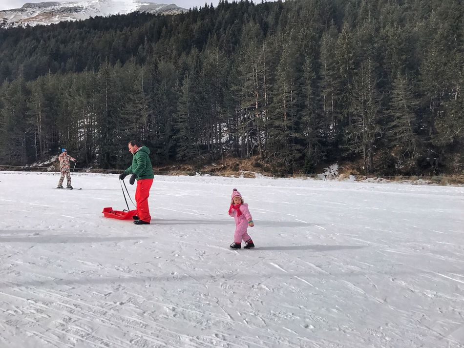 Fatherhood Moments Toddler  Snow