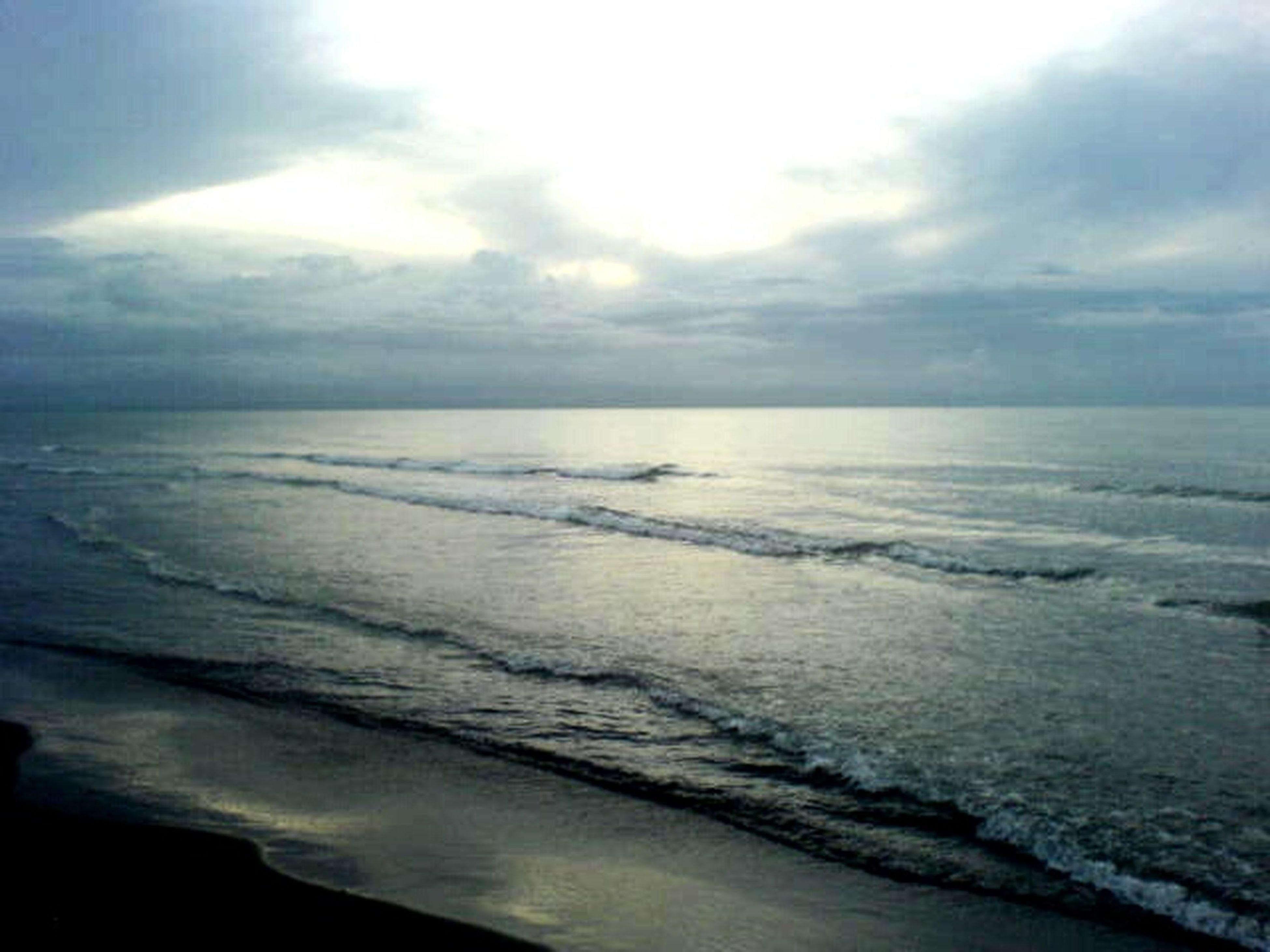 sea, horizon over water, water, sky, beach, tranquil scene, scenics, tranquility, beauty in nature, cloud - sky, shore, nature, cloudy, idyllic, cloud, wave, sand, calm, coastline, seascape