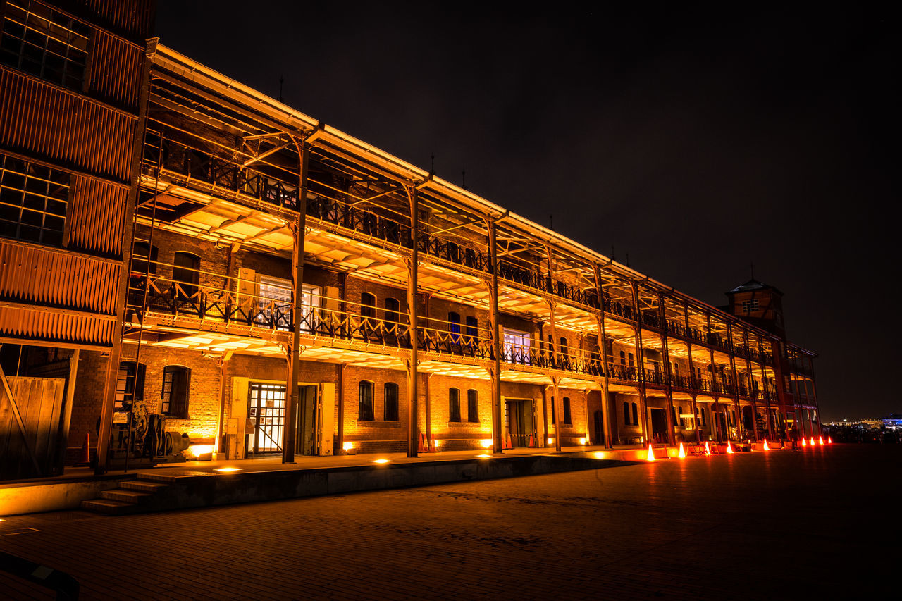 night, architecture, built structure, illuminated, building exterior, no people, sky, outdoors, city
