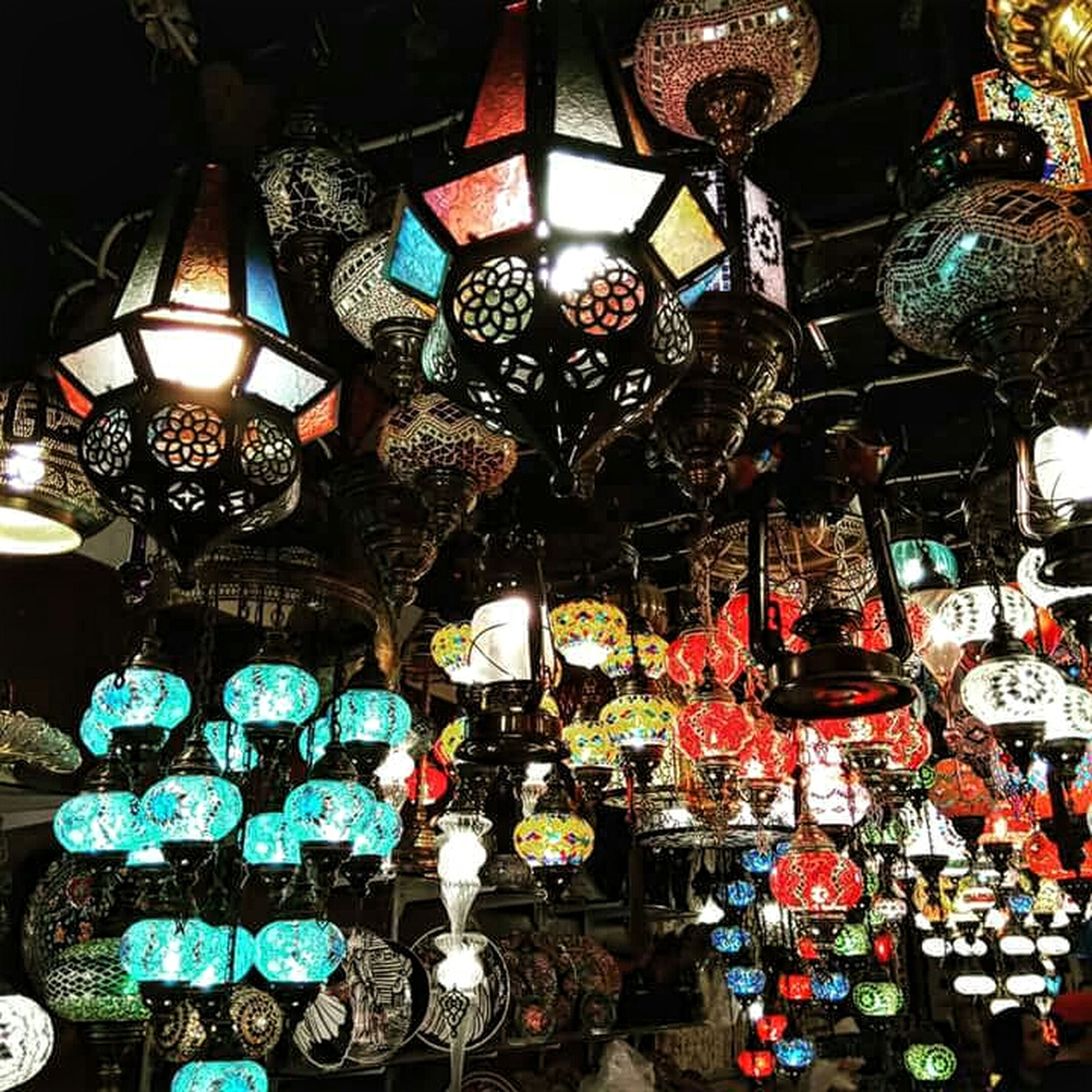 Taken from my Sony Xperia XA at Bab Al Bahrain Souq Illuminated Lights And People Indoors  Hanging Souq Market Mobilephotography Xperiaphotography XperiaXADual ArabianLights Arabic Culture