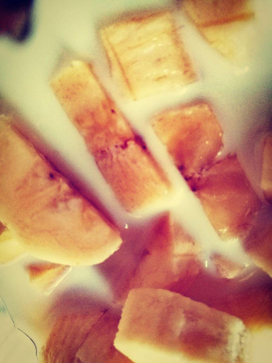 Koktajl Fruits Banana Apples Milk Fit