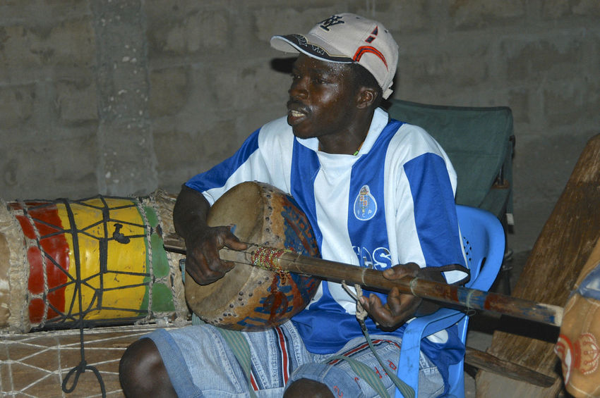 Party time in Niafrang Senegal Music Niafarang Niafourang Niafrang West Africa Africa Casamance Music Musical Instrument Musician One Person People Playing Real People Sen Sitting