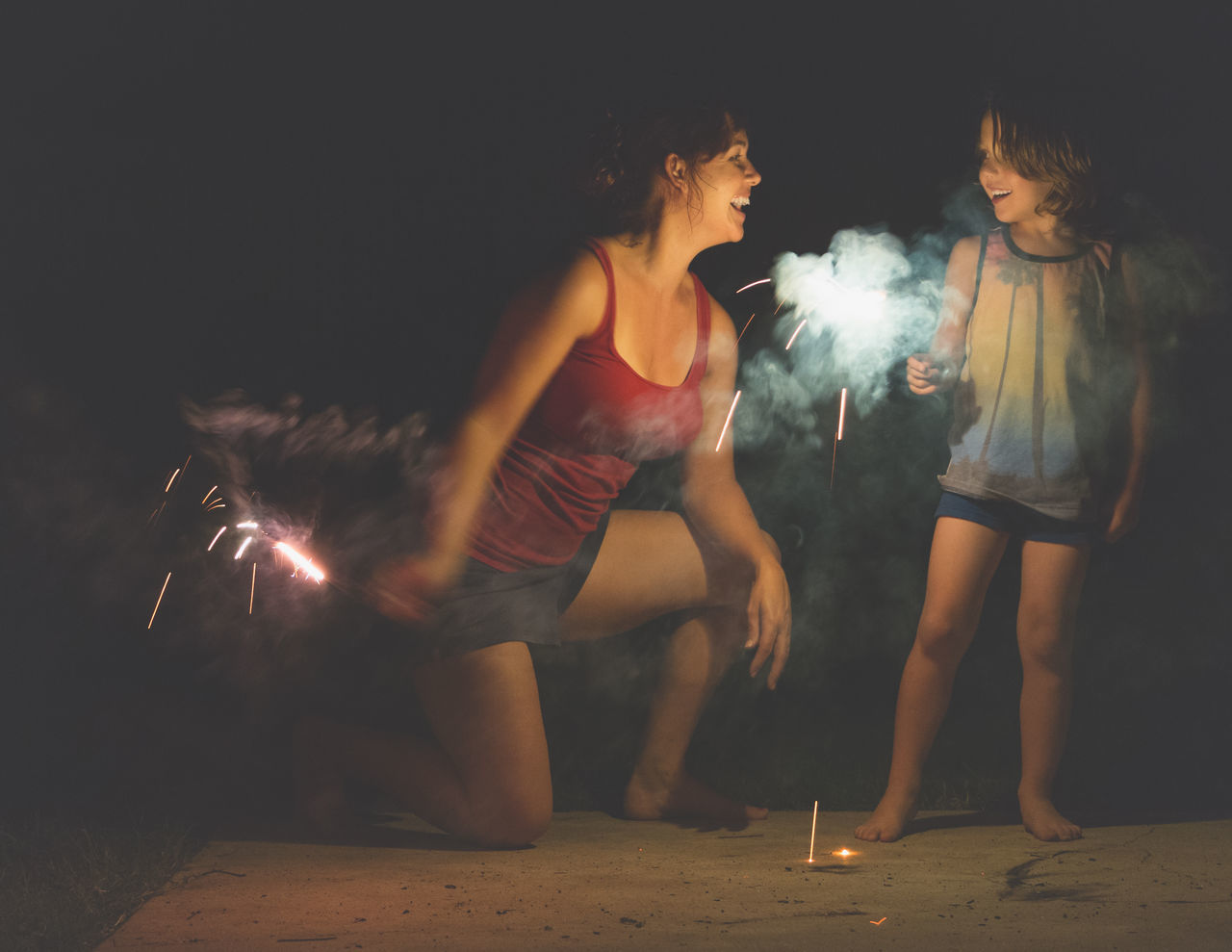 Beautiful stock photos of 4th of july, 35-39 Years, 6-7 Years, Arts Culture And Entertainment, Blurred Motion