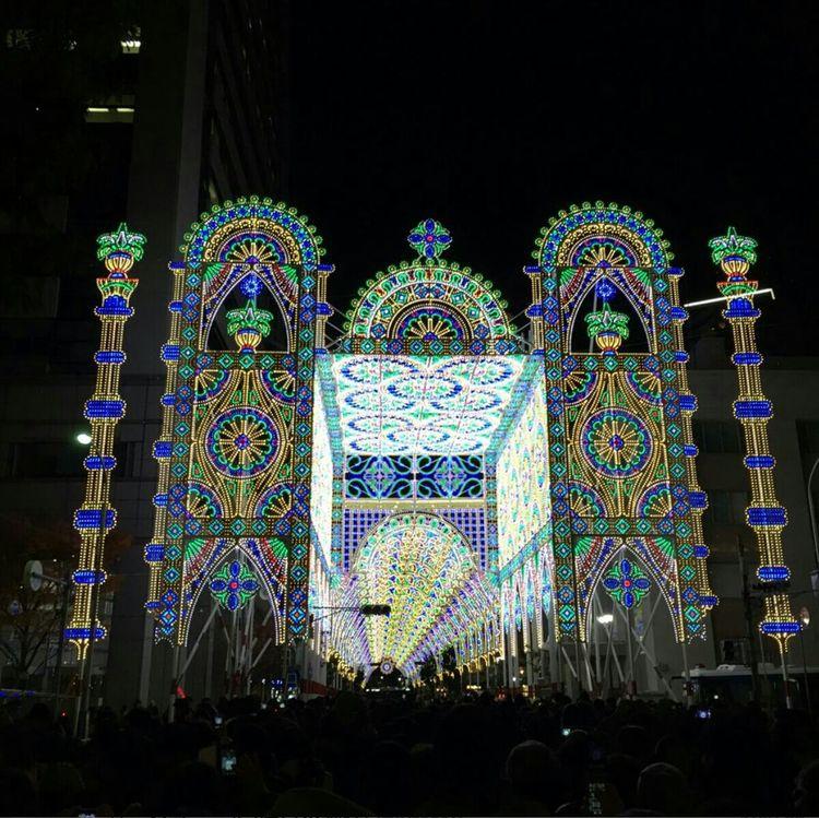 ルミナリエ Kobe,japan Lightup Kobeluminarie