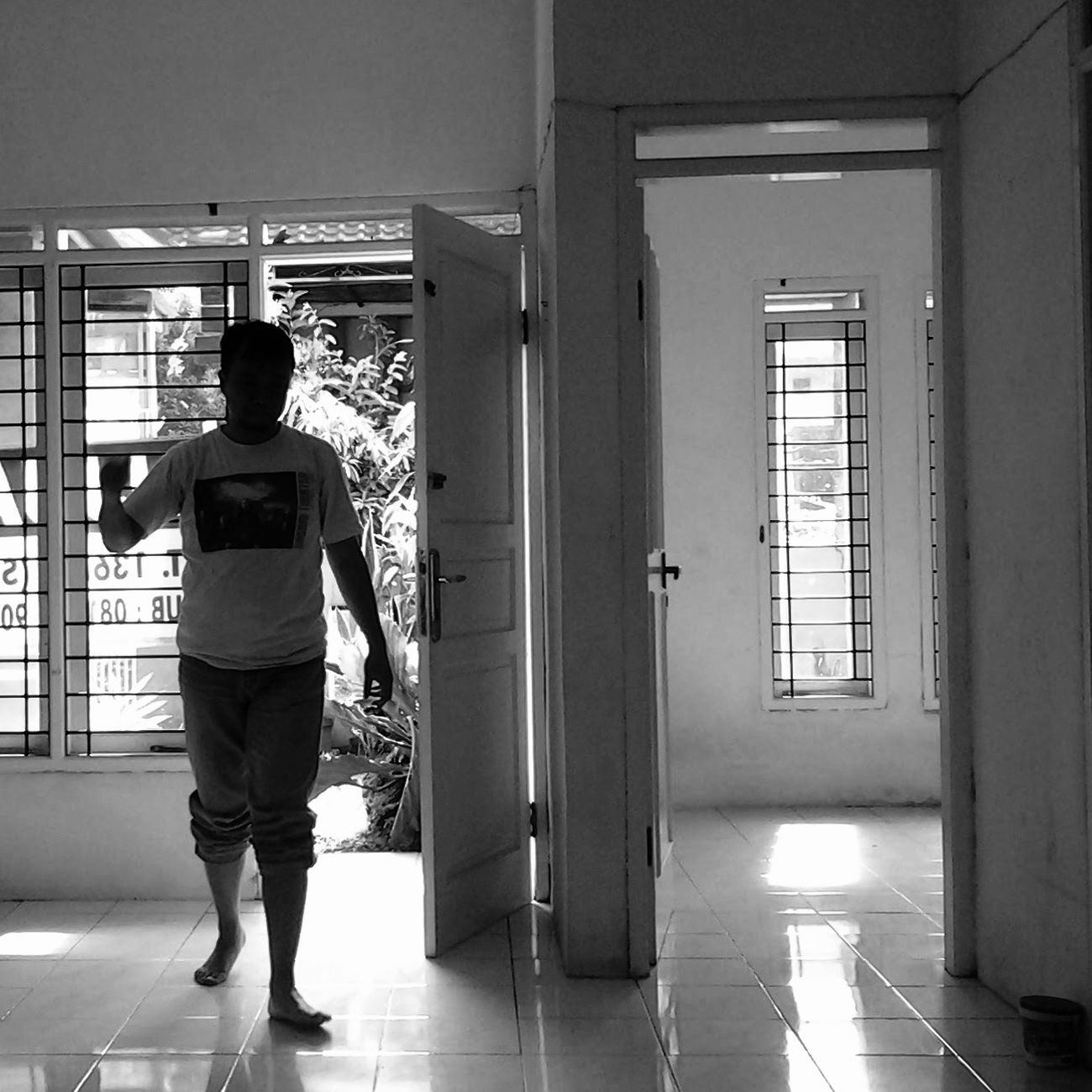 Empty... XPERIA Blackandwhite Amateurphotographer  Full Length Rear View Door One Person Only Men One Man Only Healthcare And Medicine Indoors  House Home