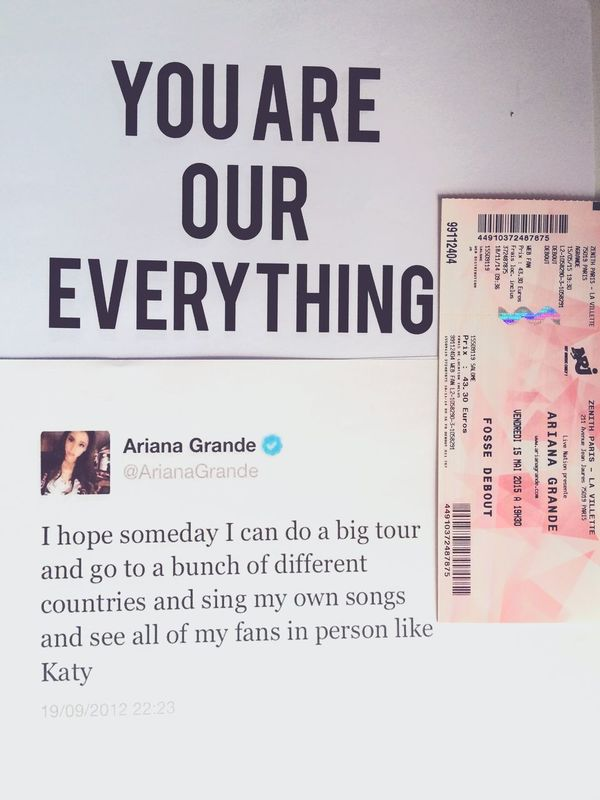 Ready for Ariana's concert in Paris💕 Arianagrande Concert TheHoneyMoonTour Arianators First Eyeem Photo