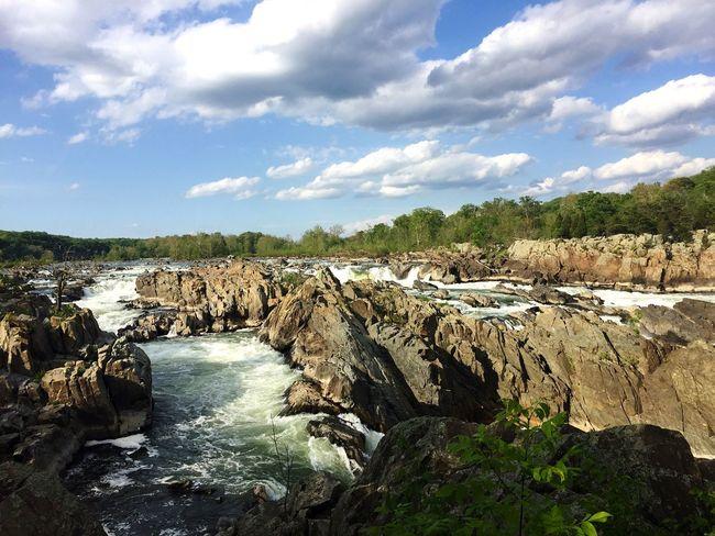 Great Falls Nationalpark Maryland Virginia Waterfall Water Nature Beautiful