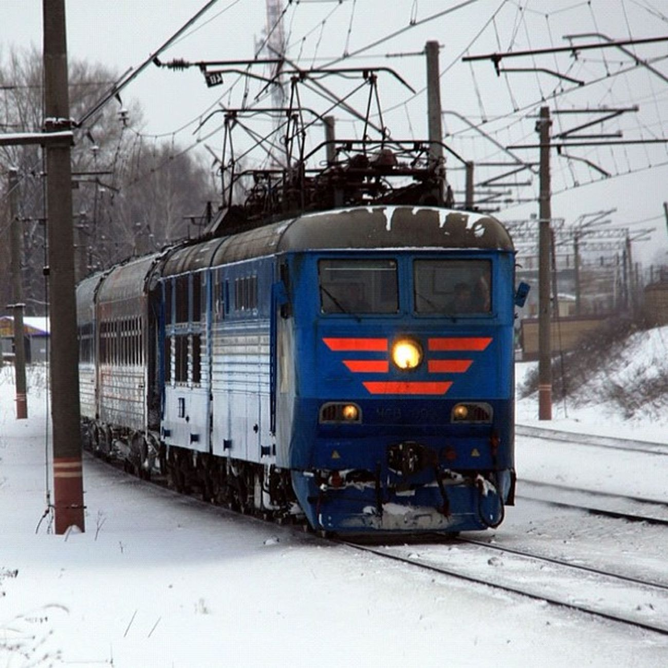 Чеха Train Moscow Winter Rzd