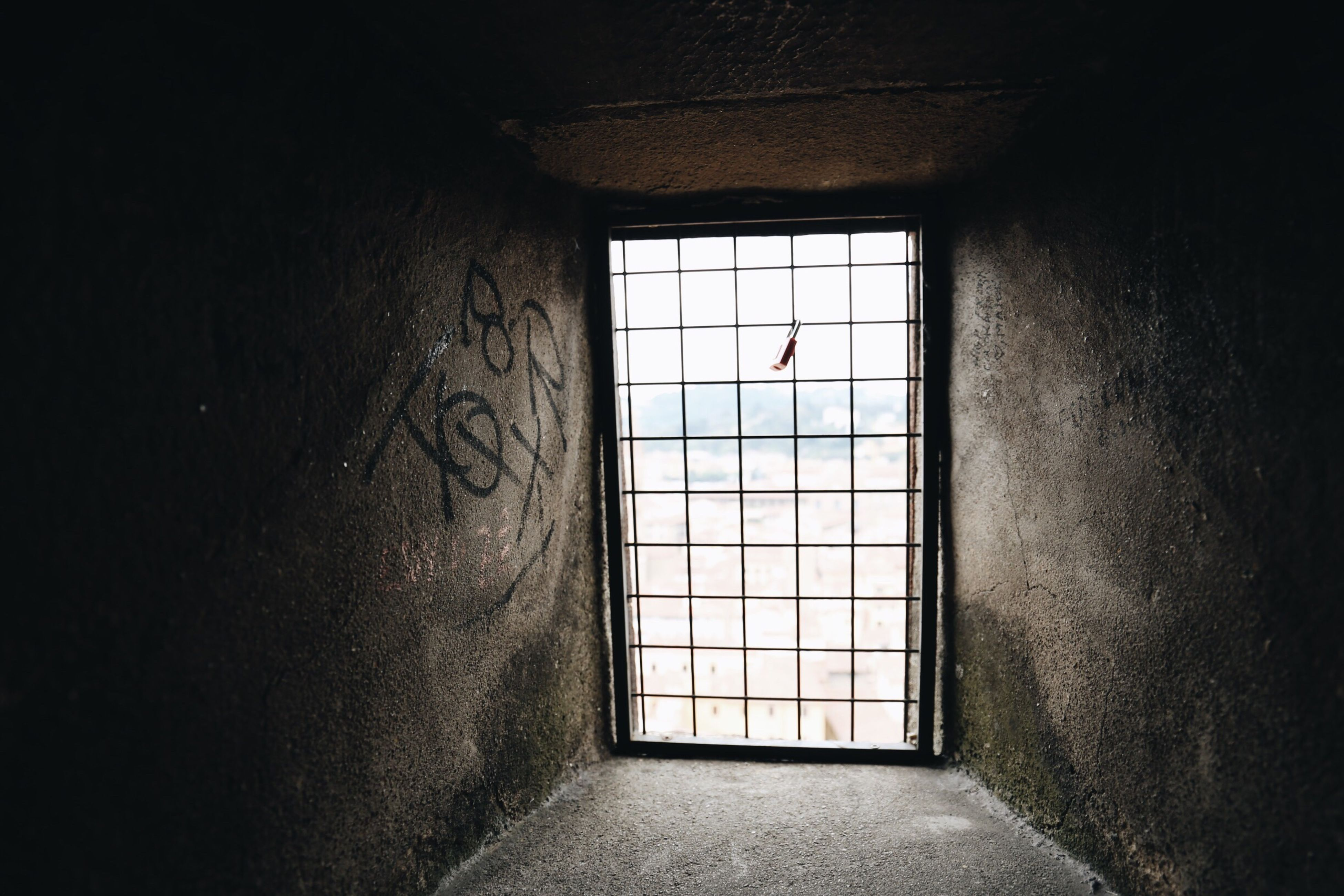 indoors, window, wall - building feature, day, no people, window frame, diminishing perspective