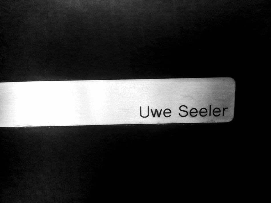On Uwe Seeler's seat. He didn't make it. :D RetirementHome