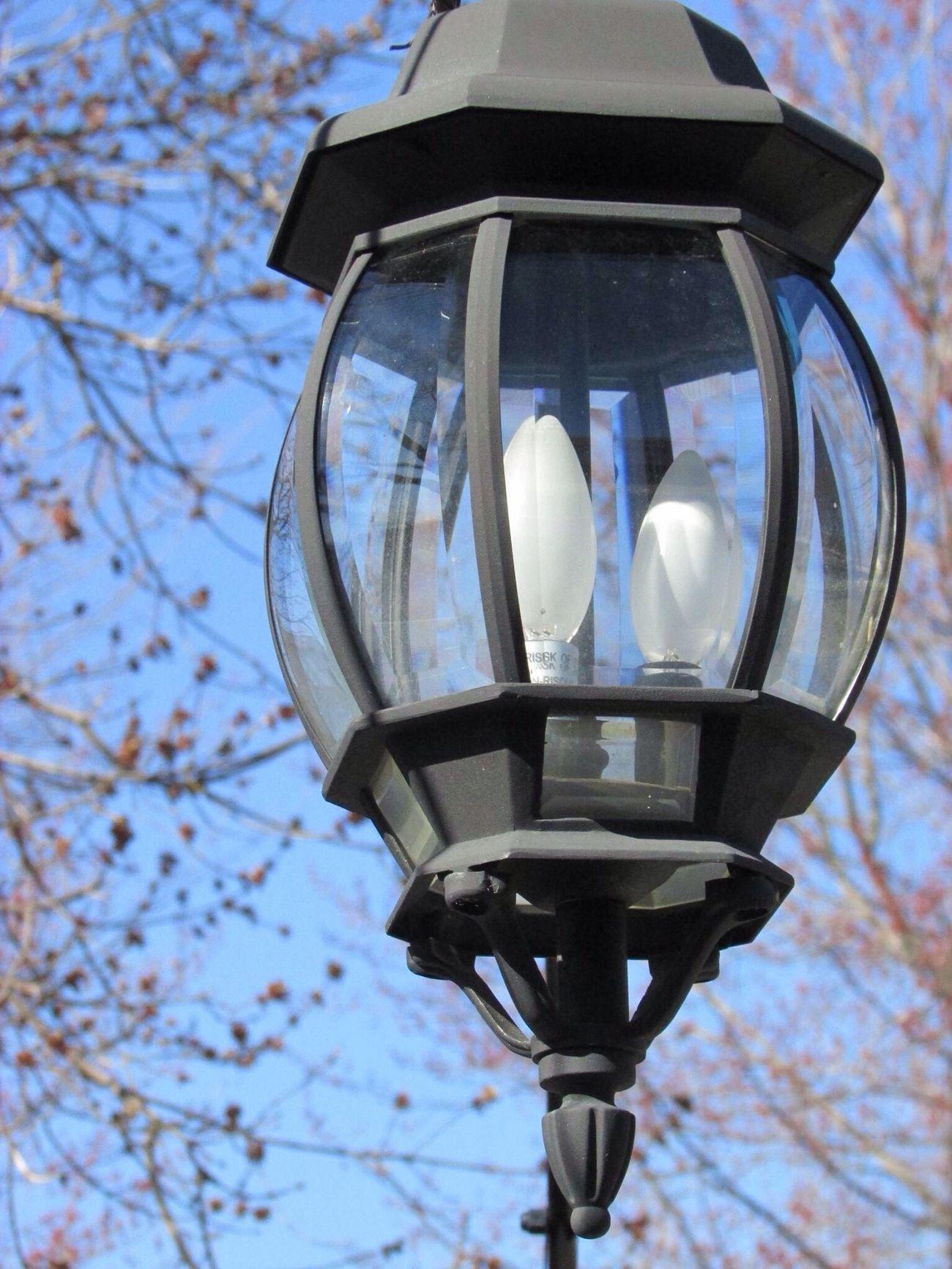 Lamp Outside Three Lumière Light