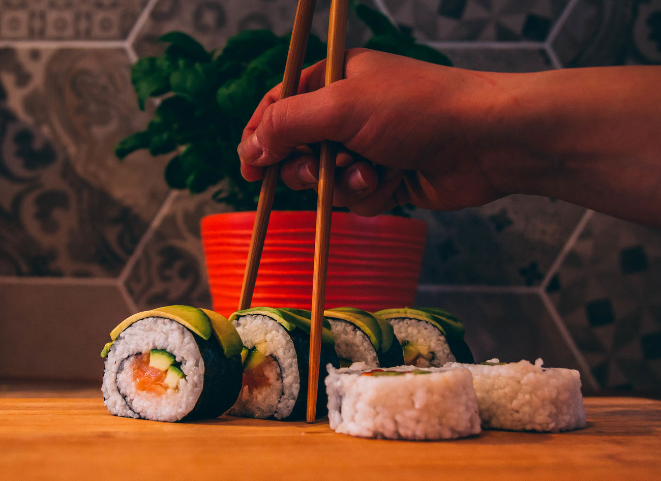 Sushi Adult Adults Only Close-up Day Food Food And Drink Freshness Healthy Lifestyle Human Body Part Human Hand Indoors  One Man Only One Person Only Men People Skewer Sushi Sushi Rolls Sushi Time Sushi! Sushilover Sushitime