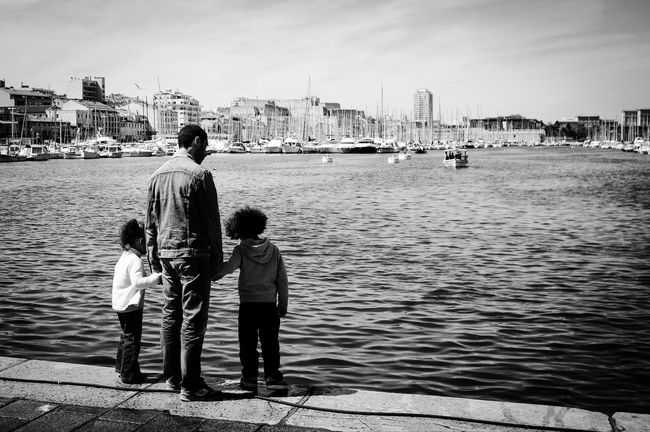 Standing in Marseille, France Taking Photos The Moment - 2015 EyeEm Awards Eye4photography  Blackandwhite The Street Photographer - 2015 EyeEm Awards Monochrome Modern Father