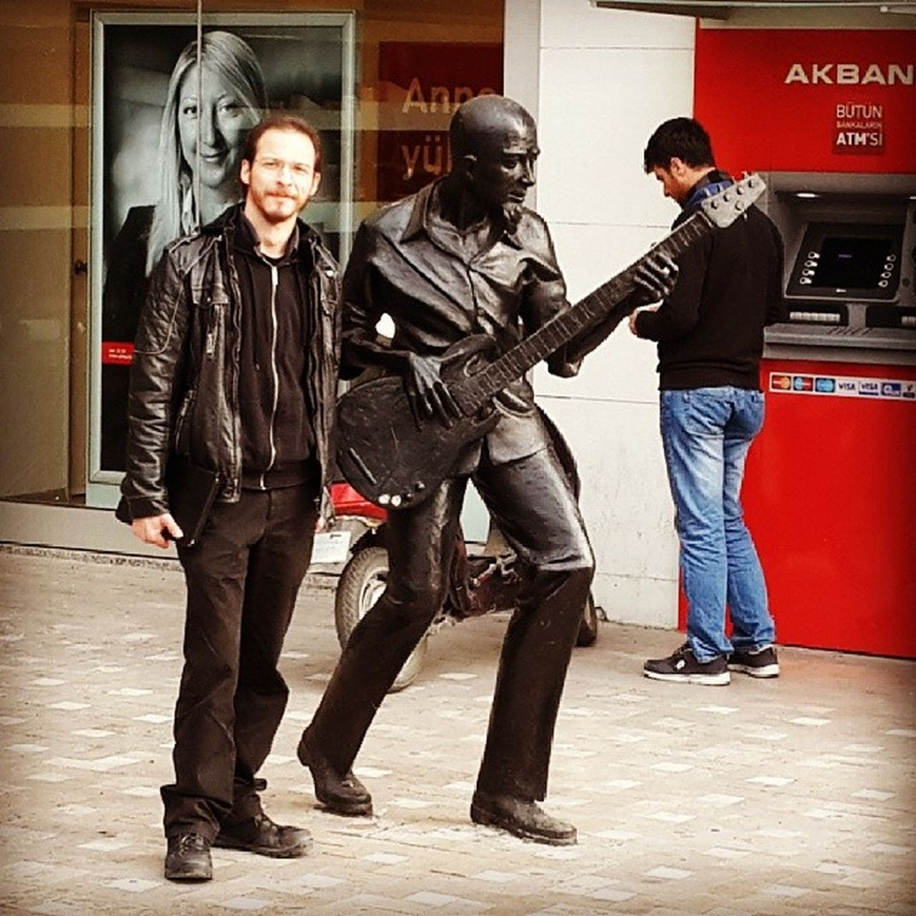 Antalya Antalya Turkey Bass Guitar Black Streetphotography On The Road Selfportrait Self Portrait Memyself&ı Rock'n'Roll