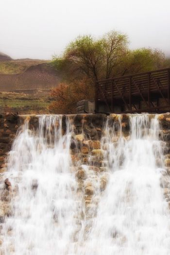 Water Nature Beauty In Nature Motion Scenics Flowing Water Waterfall No People Splashing Day Outdoors Dam Tree Hydroelectric Power
