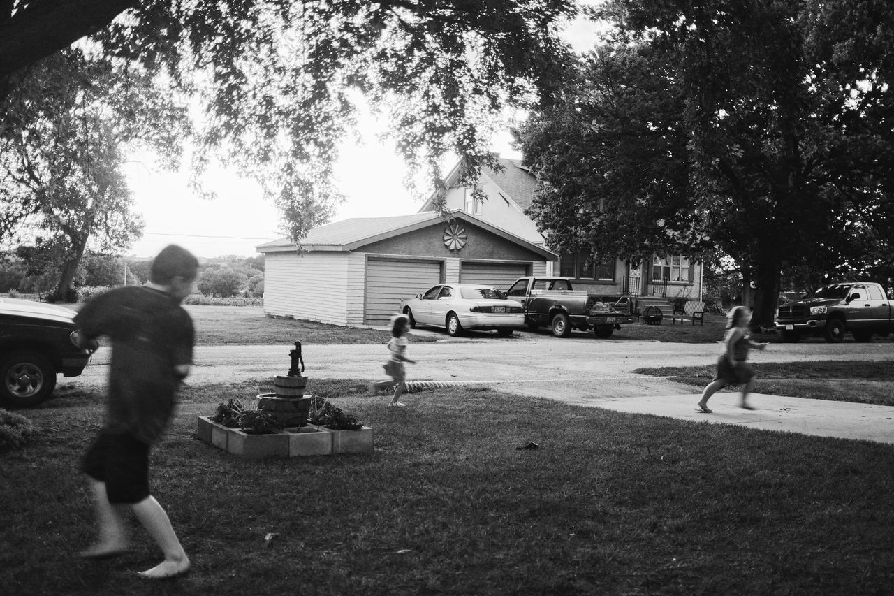 Visual Journal June 2017 Western, Nebraska B&w B&w Street Photography Camera Work Candid Photography Childhood Day Leisure Activity Lifestyles Nebraska Outdoors People Photo Diary Playing Real People Rural America Rural Life Small Town America Togetherness Visual Journal