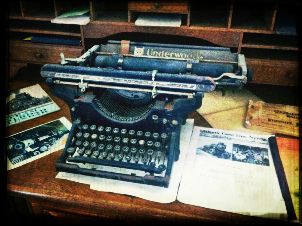 typewriter in Jacksonville Beach by Chris Bautista