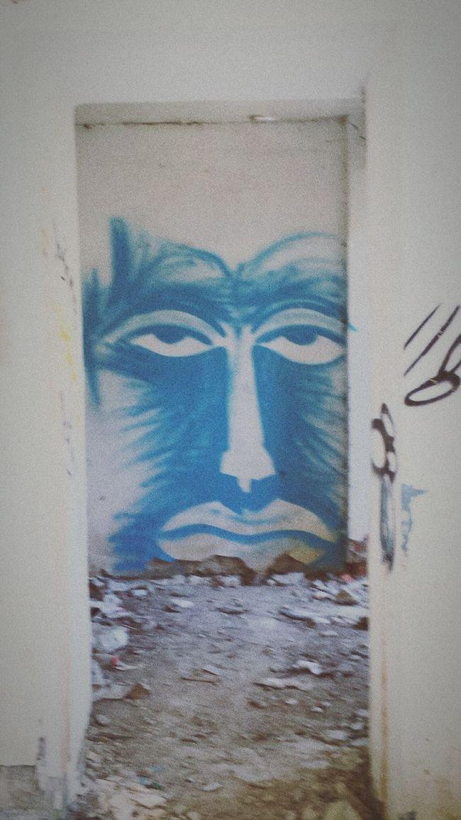 Abandoned Buildings Abandoned Graffiti Wall Scary Face Room Trash Blue Graffiti Wall White Abrau-Durso AbrauDurso Russia First Eyeem Photo