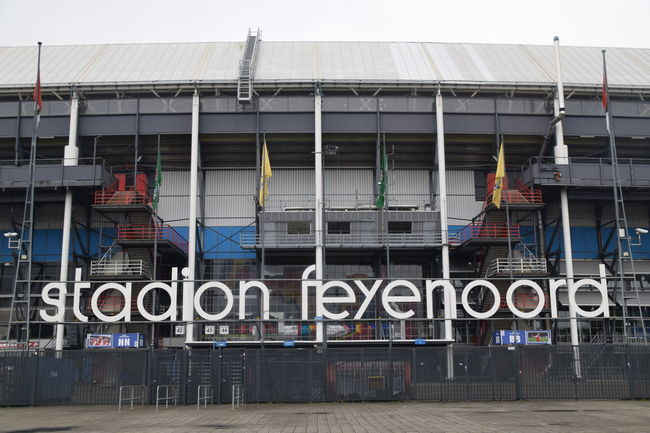 Architecture Building Building Exterior Built Structure City City Life Day Exterior Feyenoord Feyenoord Rotterdam Football Stadium Modern Multi Colored No People Outdoors Rotterdam Sky
