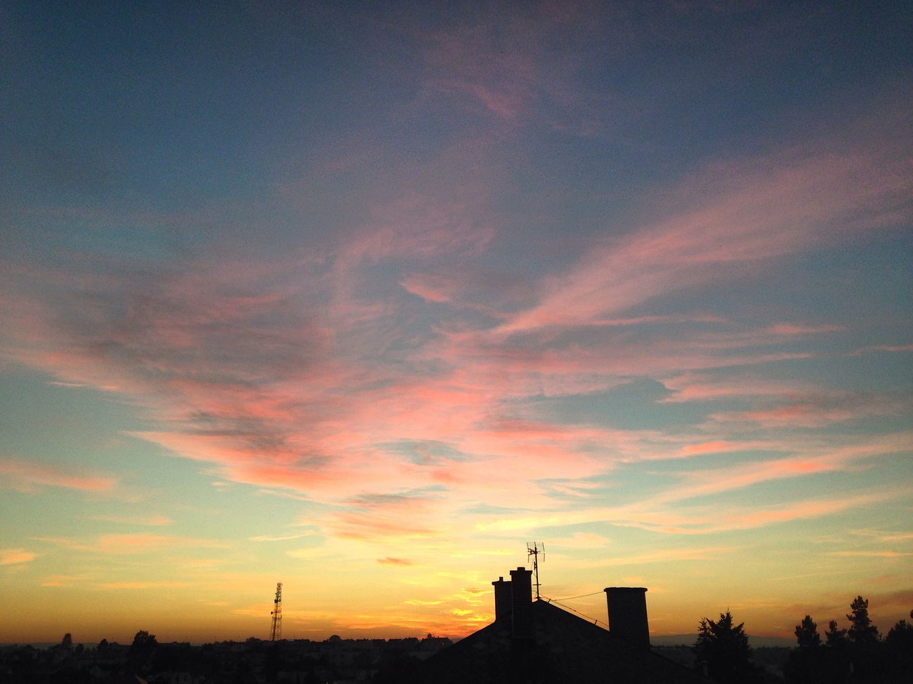 After sunset 😍 Sunset Evening Czech Republic Sadness... Clouds IOS9 IPhone IPhoneography Evening Sky