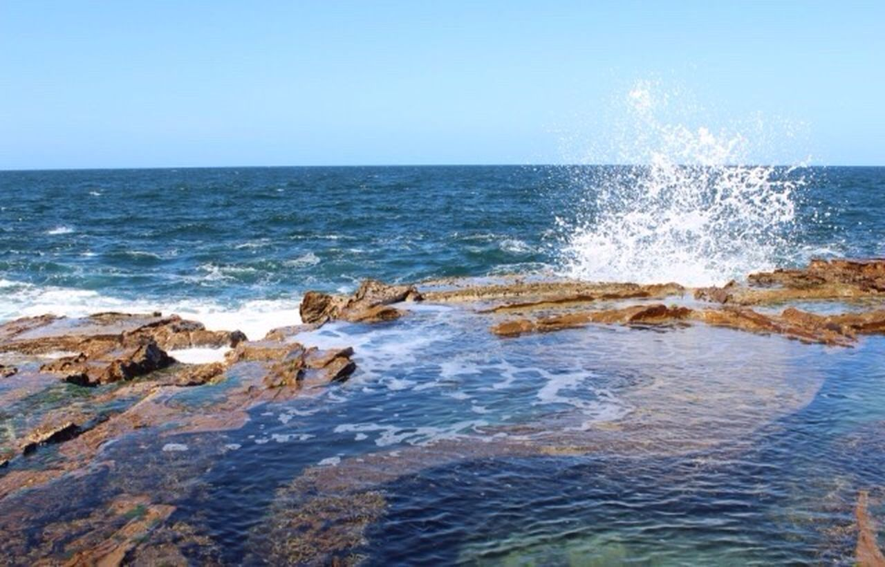 Mermaid pools at Avoca Mermaid Pools  Rock Pools Waves Water Mermaid Pools Sky Ocean Nature