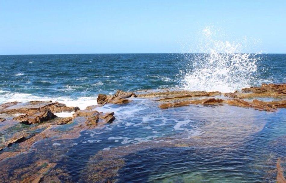 Mermaid pools at Avoca Mermaid Pools  Rock Pools Waves Water Mermaid Pools Sky Ocean Nature