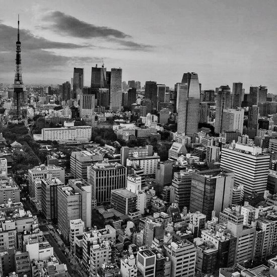 Tokyo Blackandwhite Aerial Shot Enjoying Life EyeEmJapan Architecture Eye4photography  Cityscapes 2016 Tokyotower