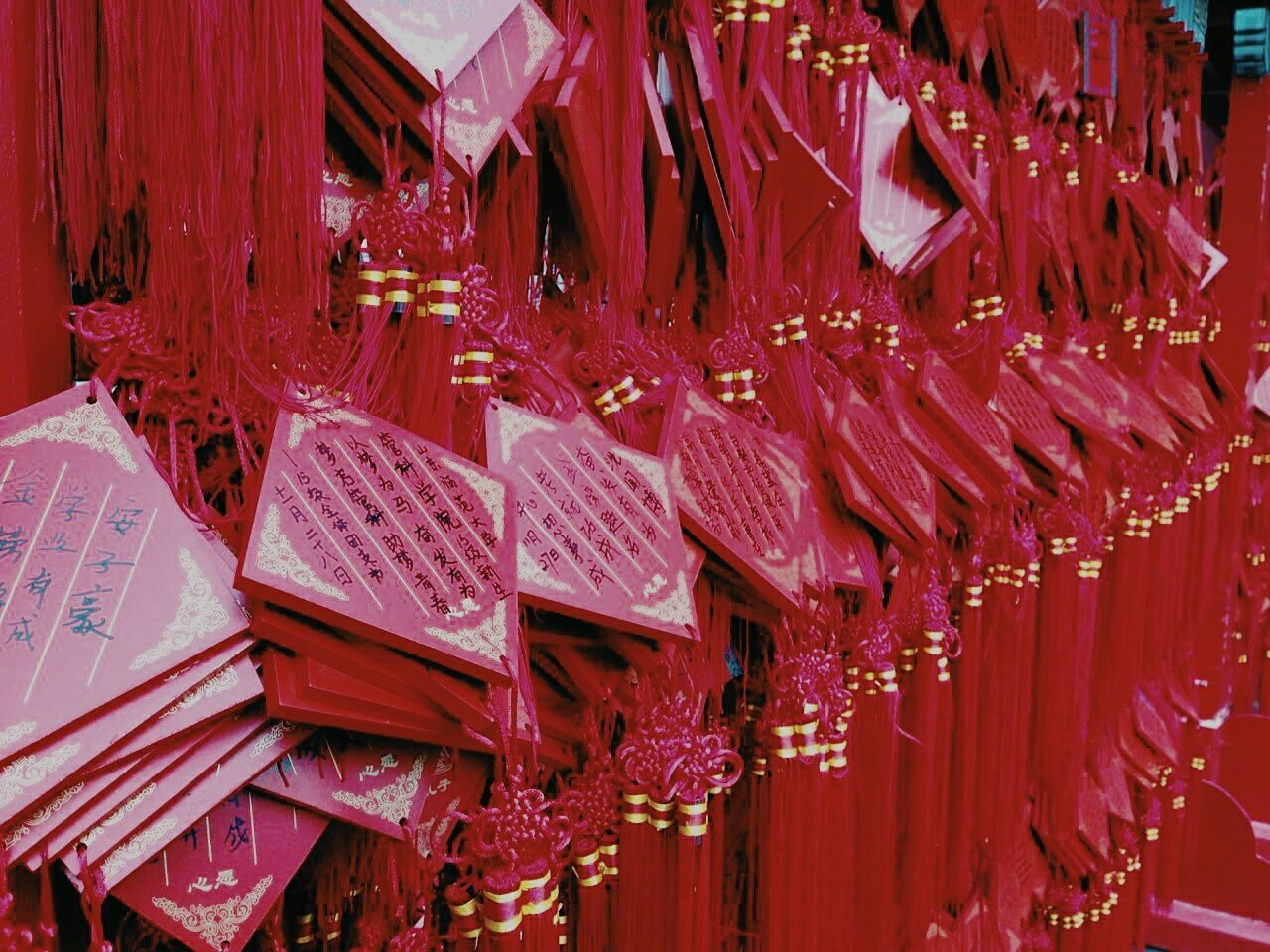 Wishes in the temple of Confucius Red No People Choice Hanging China Chinese China Culture China. China In My Eyes China Art China Dekor Confucian Temple Confucius Temple Confucian School Confucious Indoors  Day First Eyeem Photo