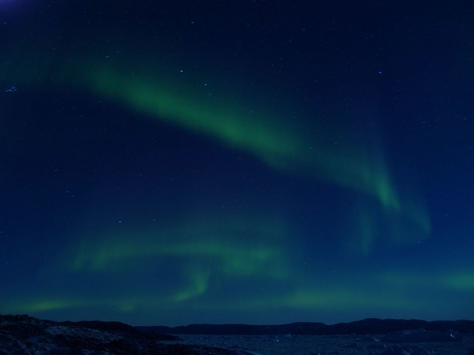 Beautiful stock photos of space, Aurora Borealis, Clear Sky, Greenland, Ilulissat