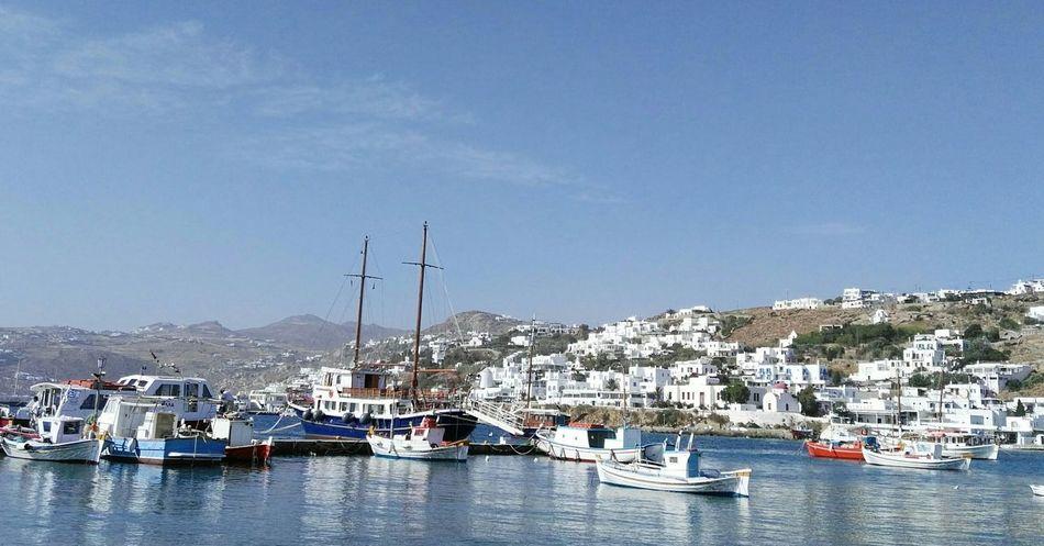 last may... Holiday ... Old Port ... Mykonostown ... Greece