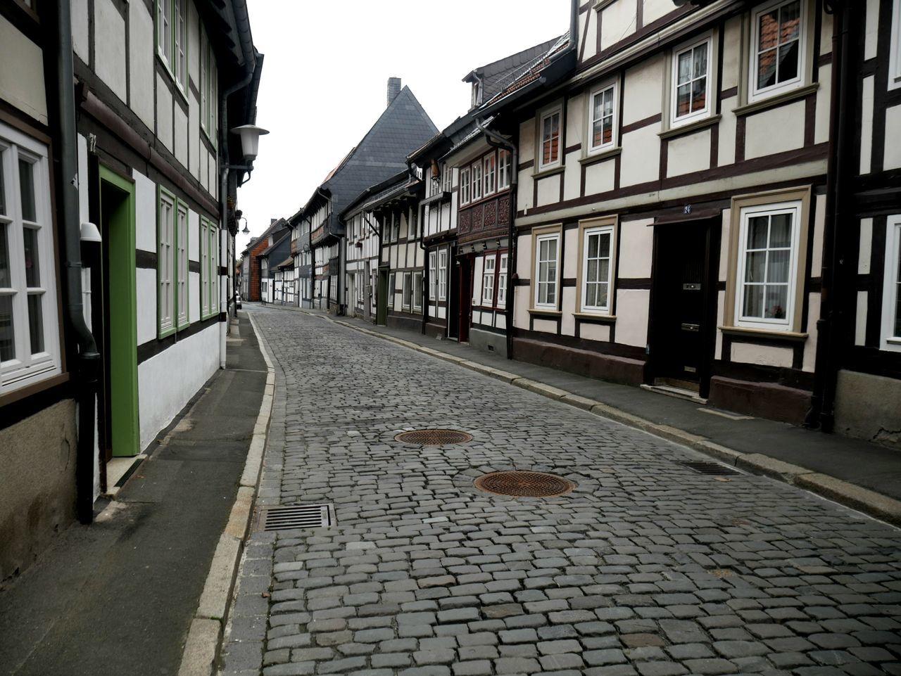 Goslar Fachwerk Fachwerkhaus History Tradition Street No People Lost