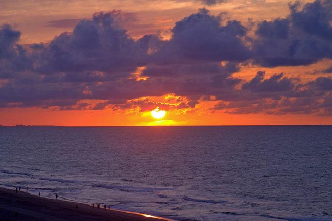Beauty In Nature Cloud Cloud - Sky Dramatic Sky Horizon Over Water Nature No People Orange Color Scenics Sea Seascape Sun Water
