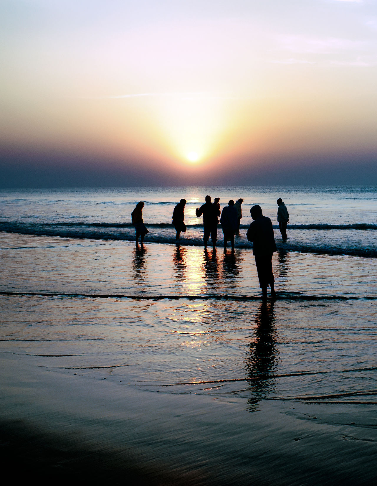 Another Sunrise. Sea Reflection Silhouette Water Outdoors Beach Nature Horizon Over Water People Beauty In Nature Sky Morning Dawn Sunrise - Dawn Sunrise Colors Moment Tranquil Peaceful Travel Photography Tranquility Beauty In Nature Nature Sunlit Serene