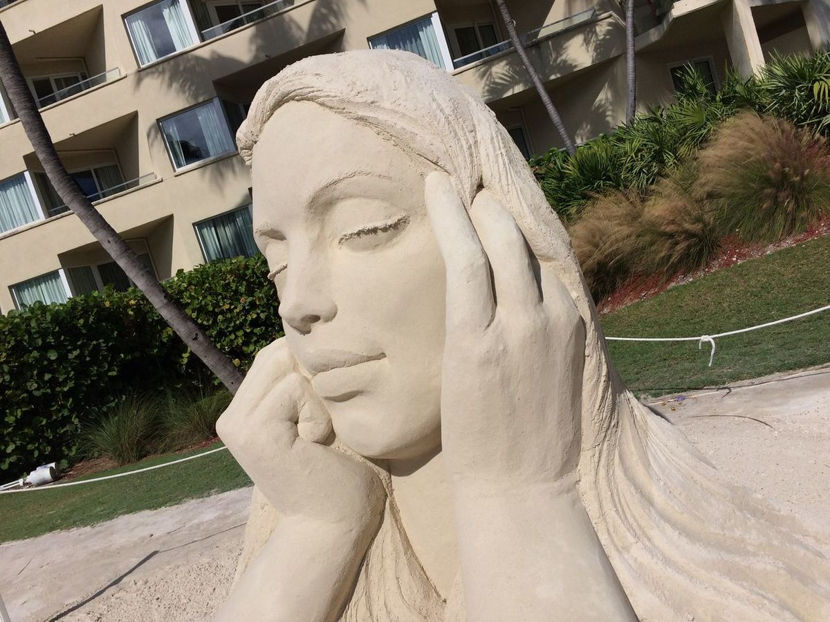 Sand Art at Casa Marina Resort Sandsculpture Sandart Keywest Florida LoveFl Conchfused Beach
