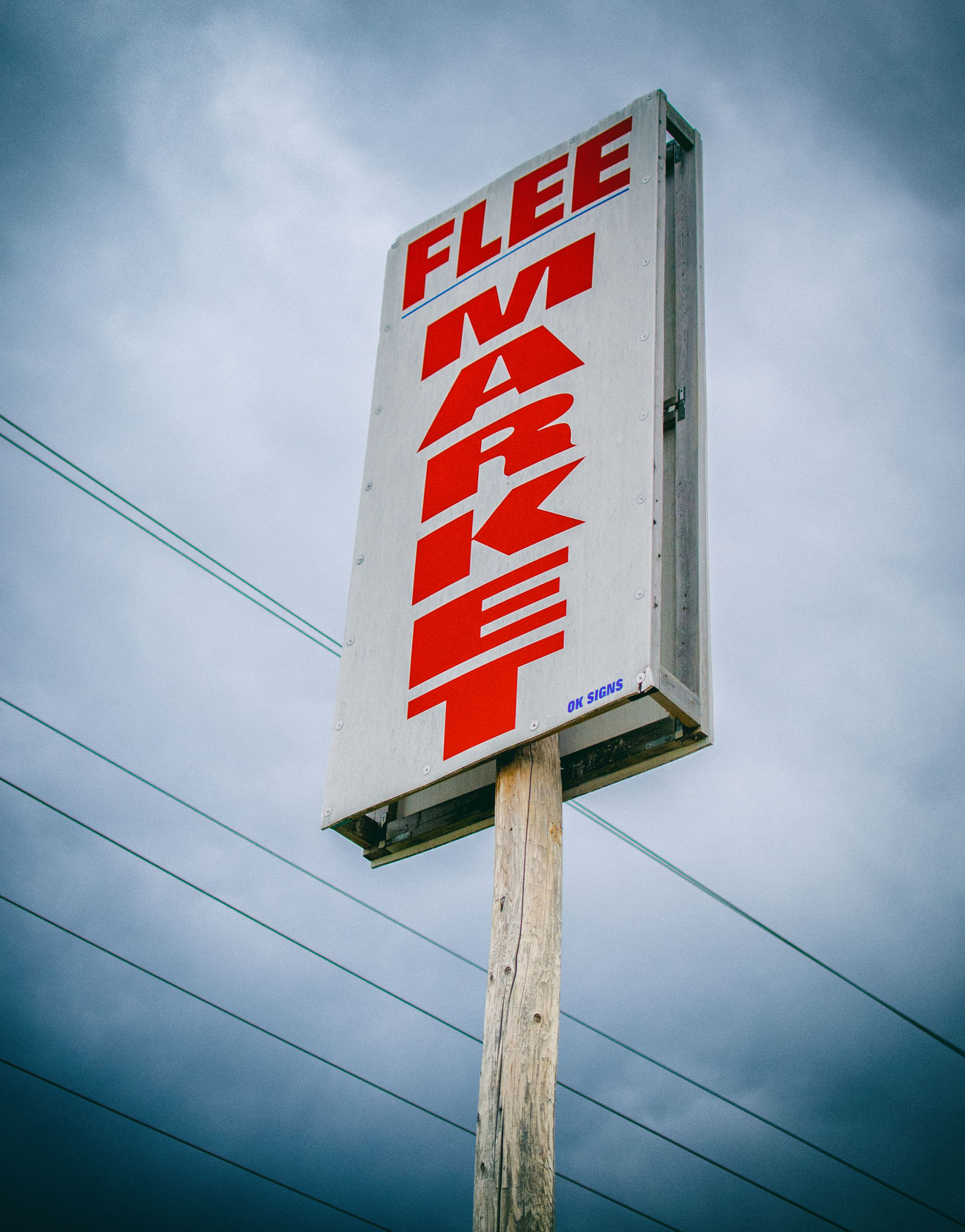 Antique Cloud - Sky Day Fleemarket Low Angle View Outdoors Pole Red Shopping Sign