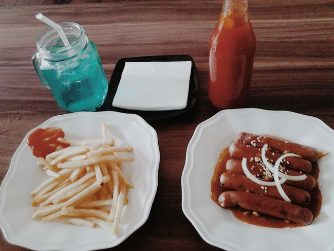 Superlatelunch Spicy Sausage French Fries Blueocean