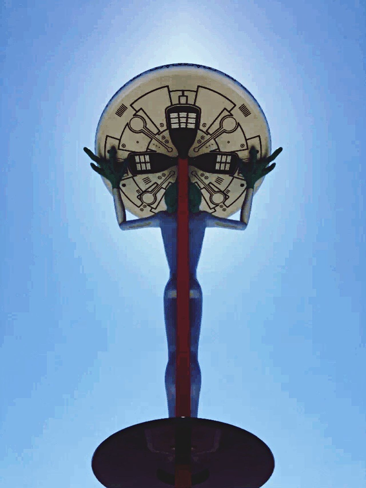 Low Angle View Alien Extraterrestrial  Skyvoid Blue Sky Obduction