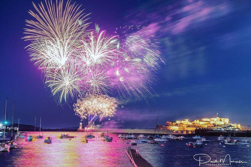 Fireworks Firework Display Night Celebration Sky Illuminated Water Long Exposure Outdoors Arts Culture And Entertainment Eye4photography  Nightphotography Eyem Best Shots
