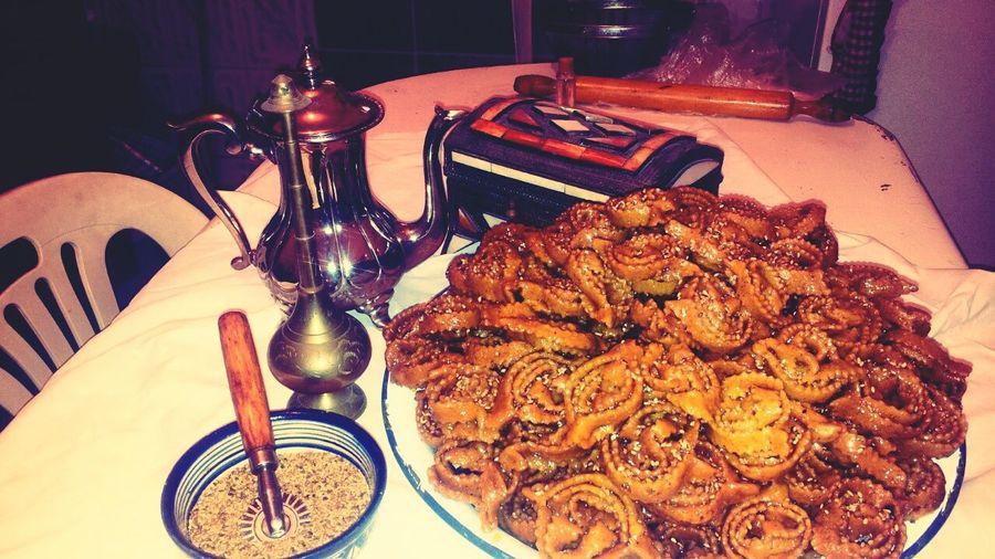 Traditionnelle gâteau marocain du ramadan ( chebakia )