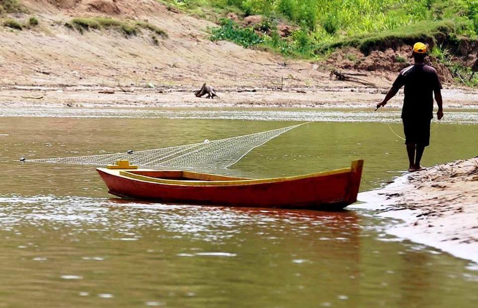 Rio Acre Acre Amazonia Brasil Peixes Pesca Rede Ribeirinhos Rio