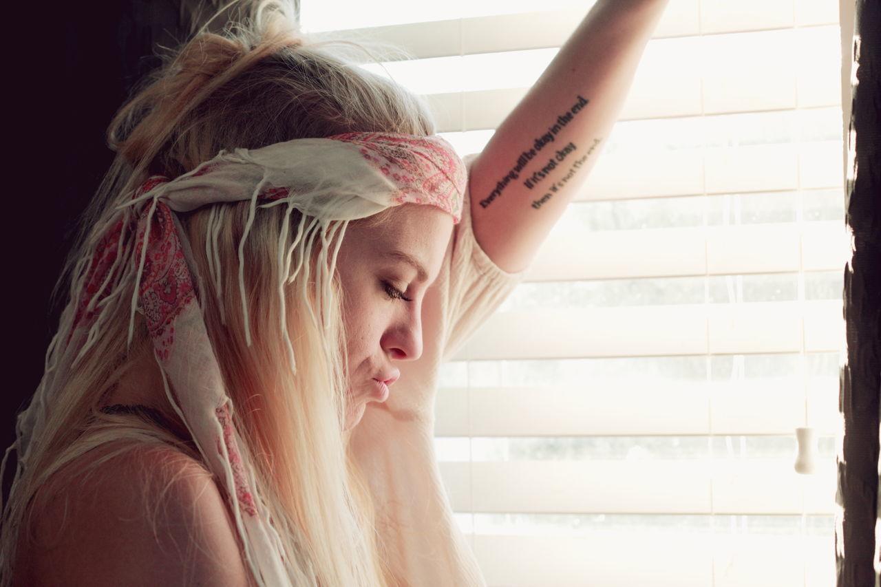 Beautiful stock photos of tattoo,  20-24 Years,  Art,  Art And Craft,  Beautiful Woman