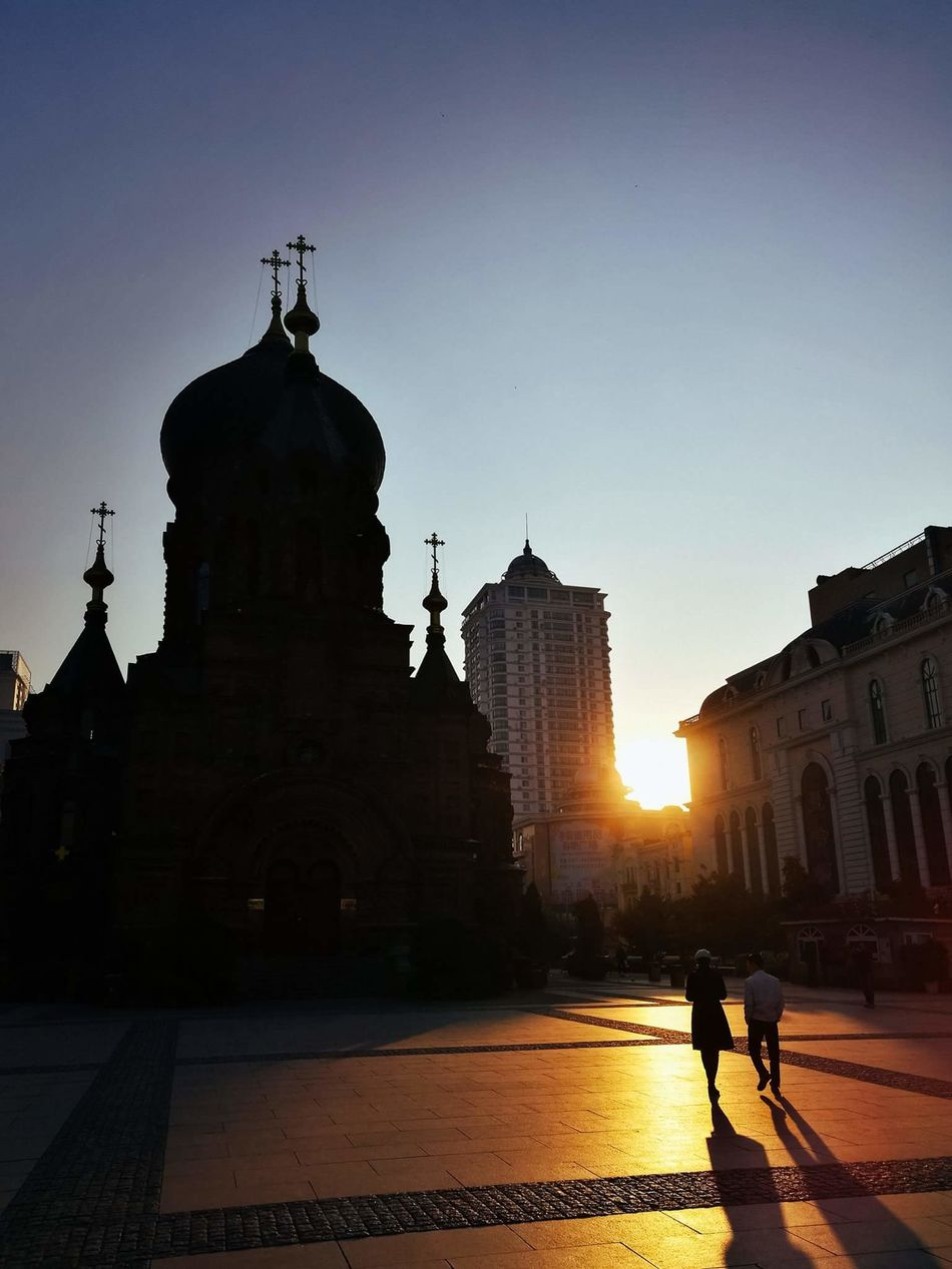 People And Places Sunrise Harbin Saint Sofia Church HuaweiP9