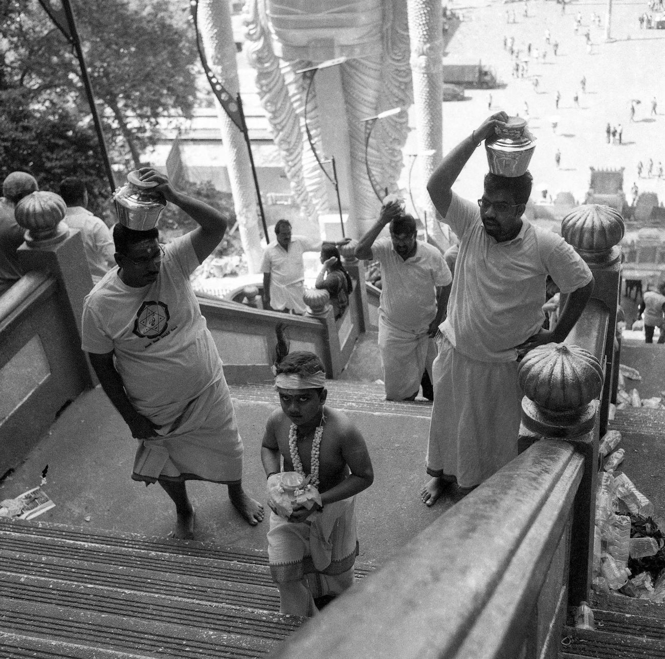 Batu Caves on film 001. Taken with the Rolleiflex Real People People Outdoors EyeEmMalaysia People Of EyeEm Black And White Filmisnotdead Rolleiflex Blackandwhite Black And White Photography Filmphotography Believeinfilm Streetphotography Street Photography Streetphoto_bw Thaipusam Thaipusam 2017 Ishootfilm The Street Photographer - 2017 EyeEm Awards